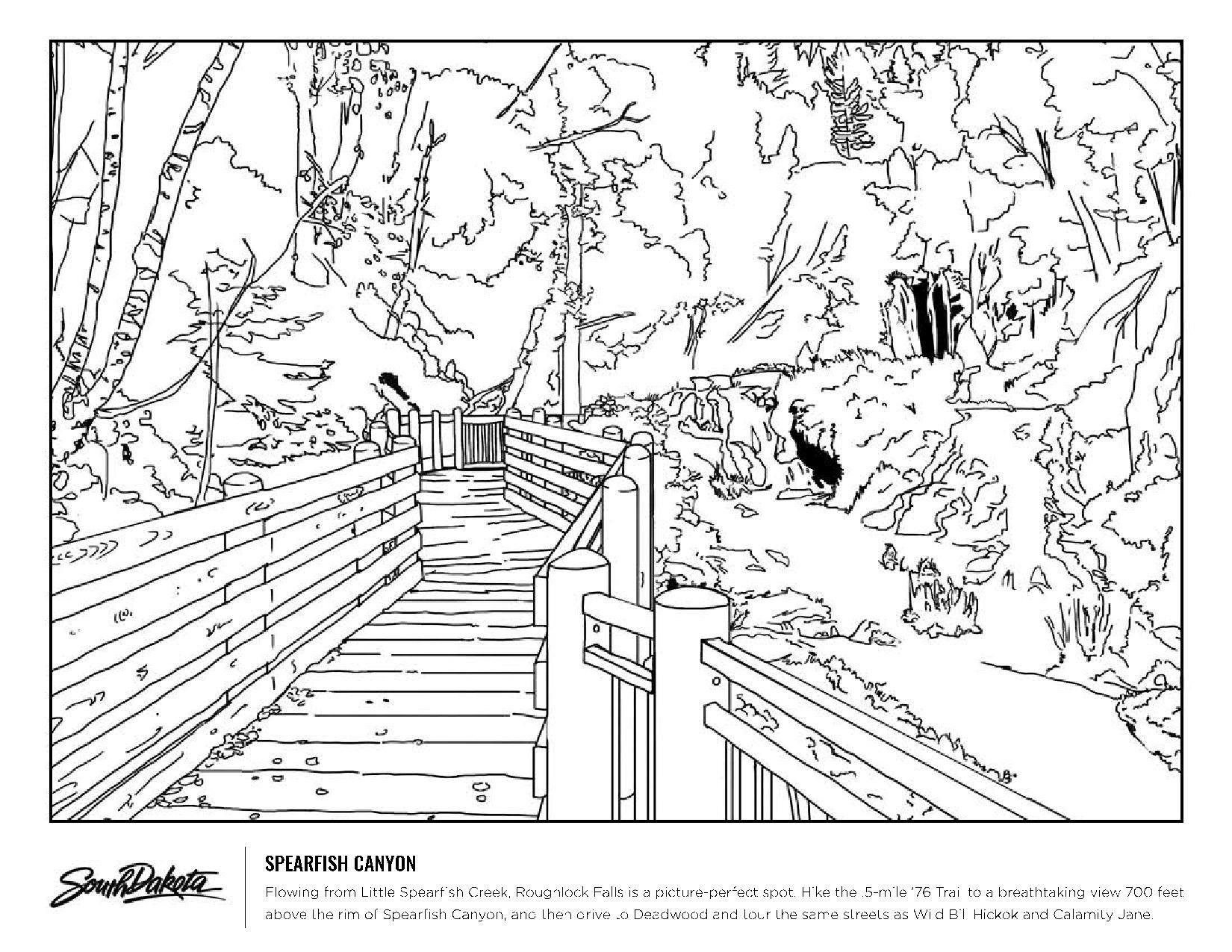 Coloring Pages Escape Outdoors Black Hills Parent
