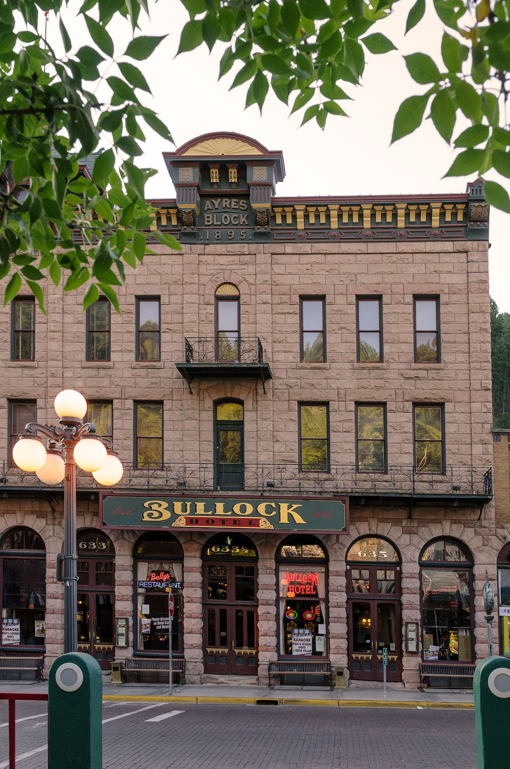 Historic Bullock Hotel front Main Street Deadwood