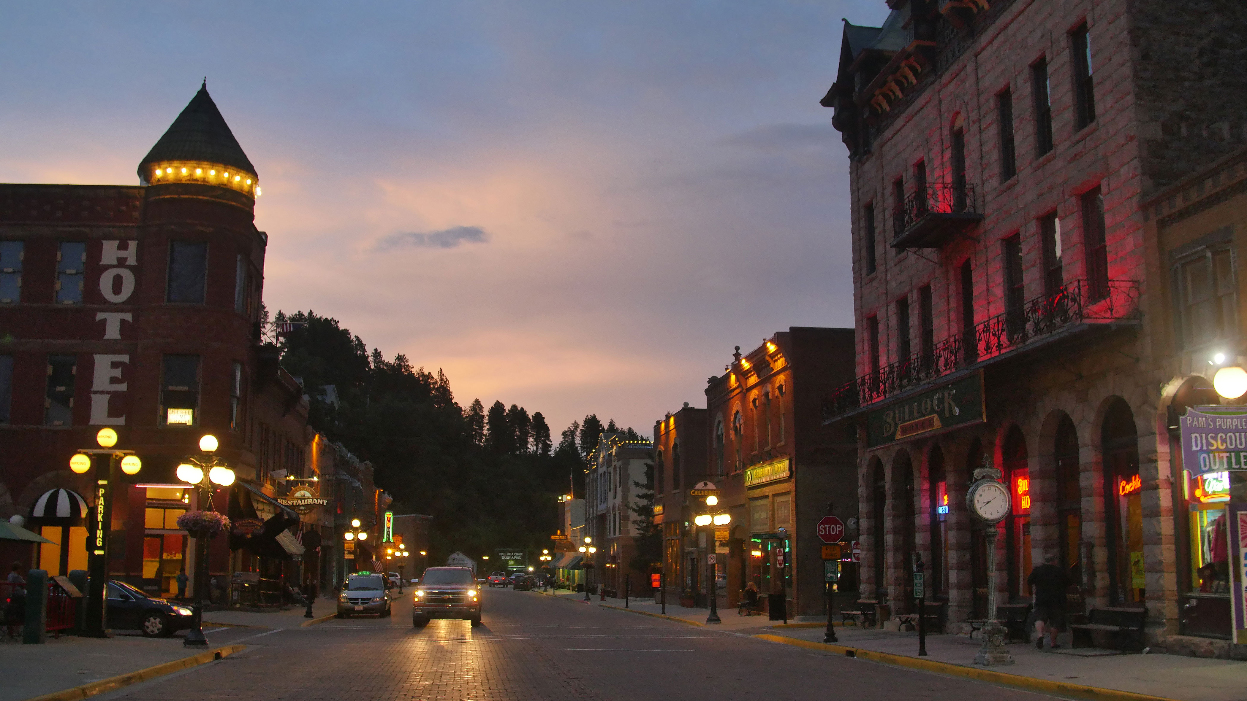 Fairmont and Bullock Hotels Main Street Deadwood