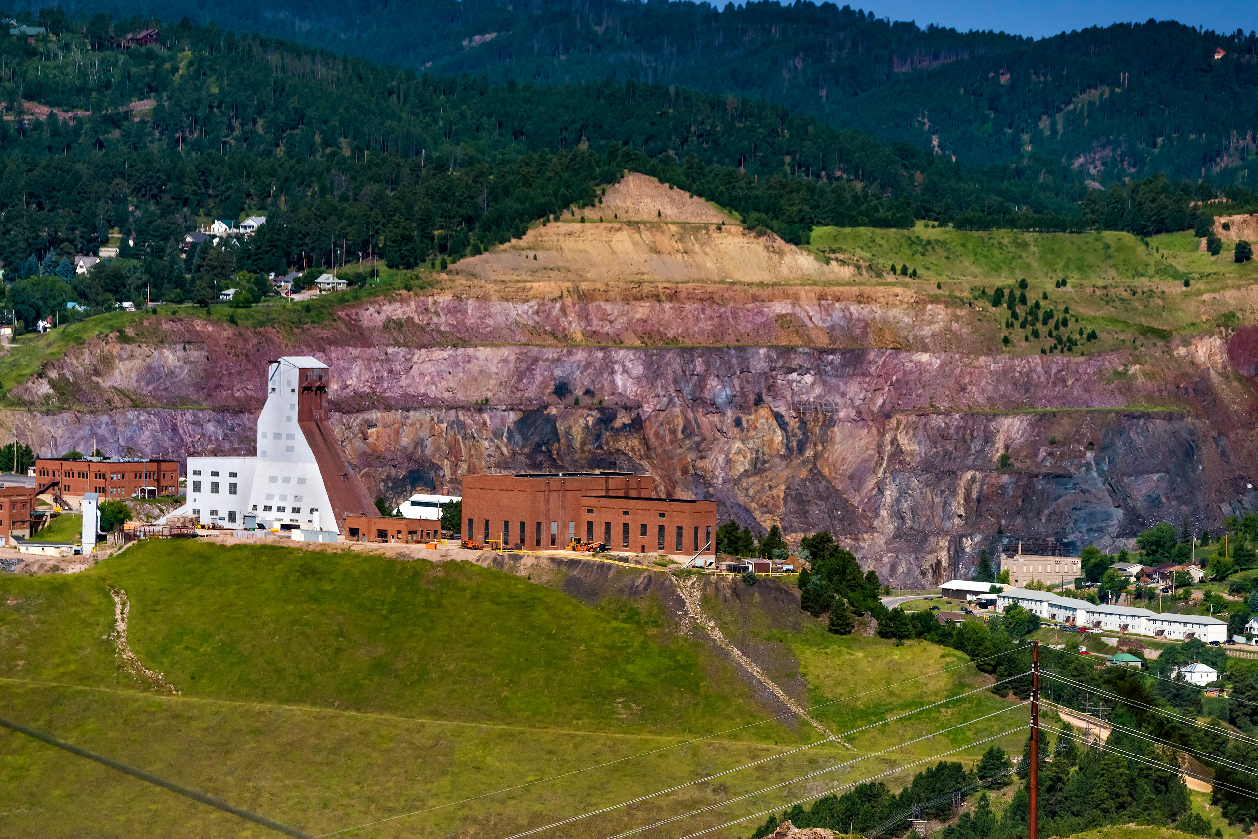 Aerial Homestake Mine Lead