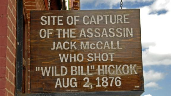 The site of Jack McCall's capture in Deadwood.