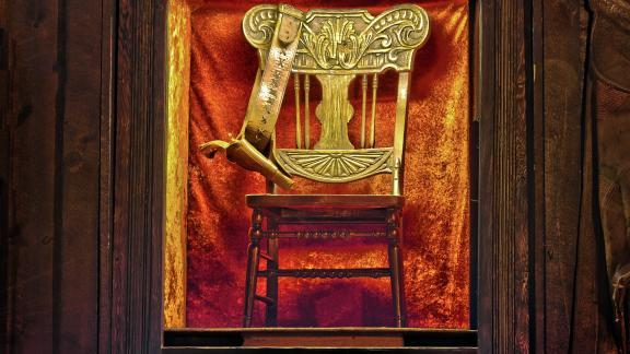 Wild Bills Death Chair inside of Saloon No. 10.