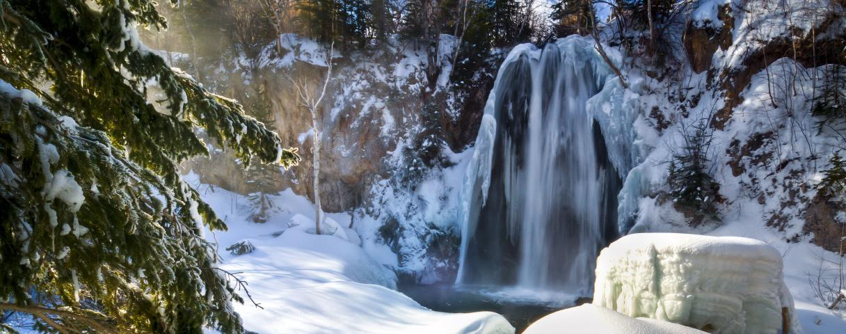 Winter, Spearfish Falls