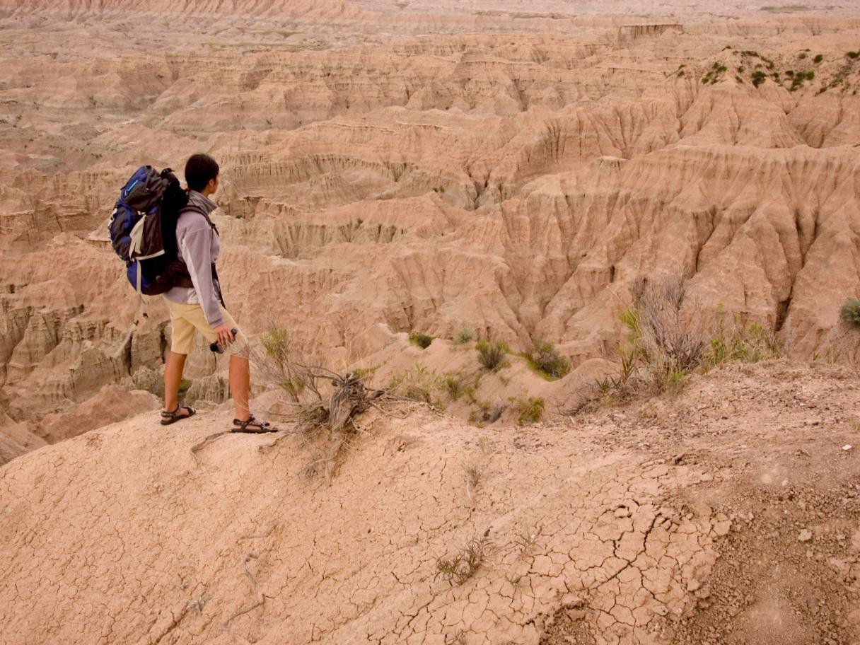 Backpacking in the Badlands