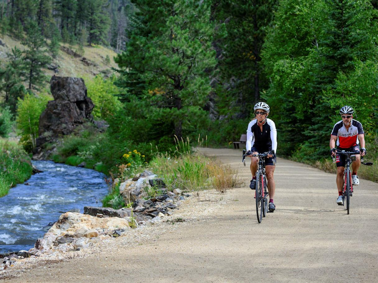 Biking the Mickelson Trail