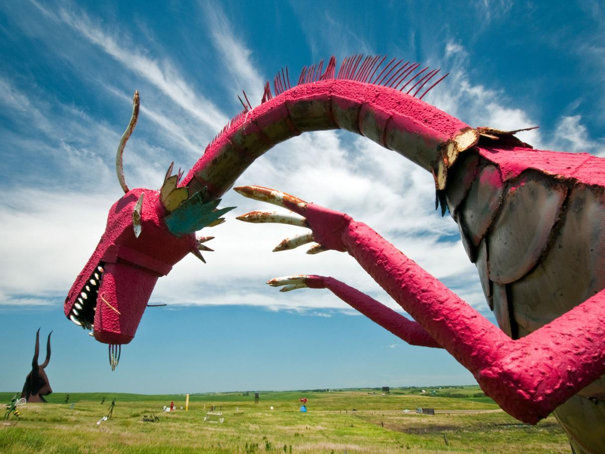 Porter Sculpture Park, Pink Dragon
