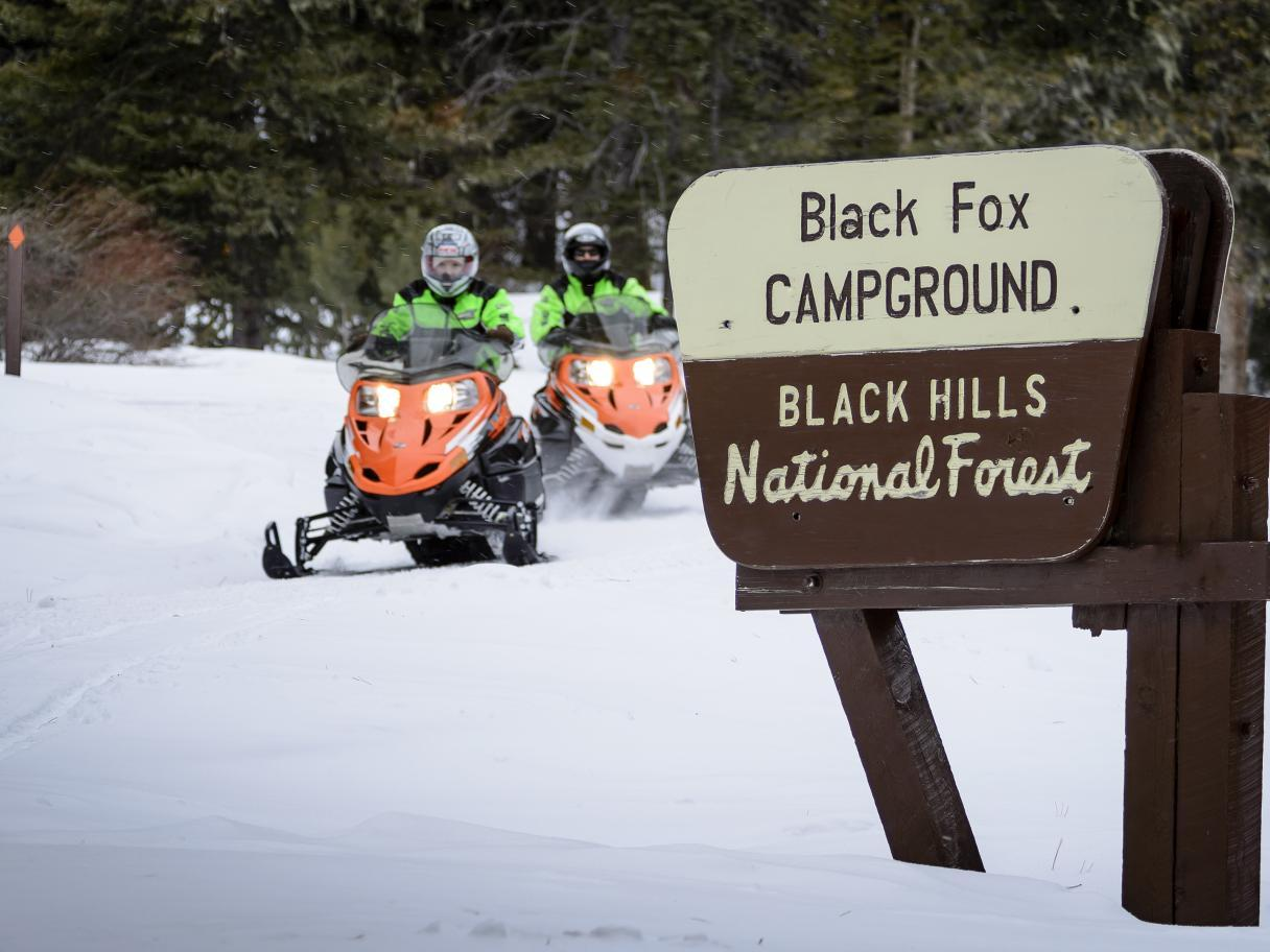 Snowmobiling in Black Hills National Forest