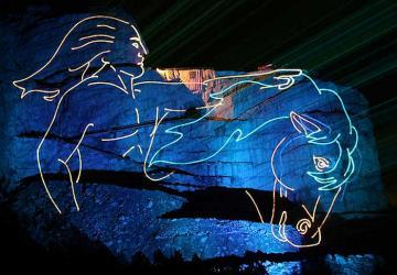 Legends in Light® Laser Light Show at Crazy Horse Memorial