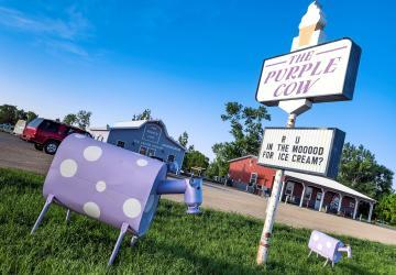 The Purple Cow Ice Cream Parlor, Waubay