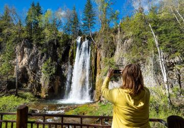 Spearfish Falls, Spearfish Canyon State Nature Area, near Lead