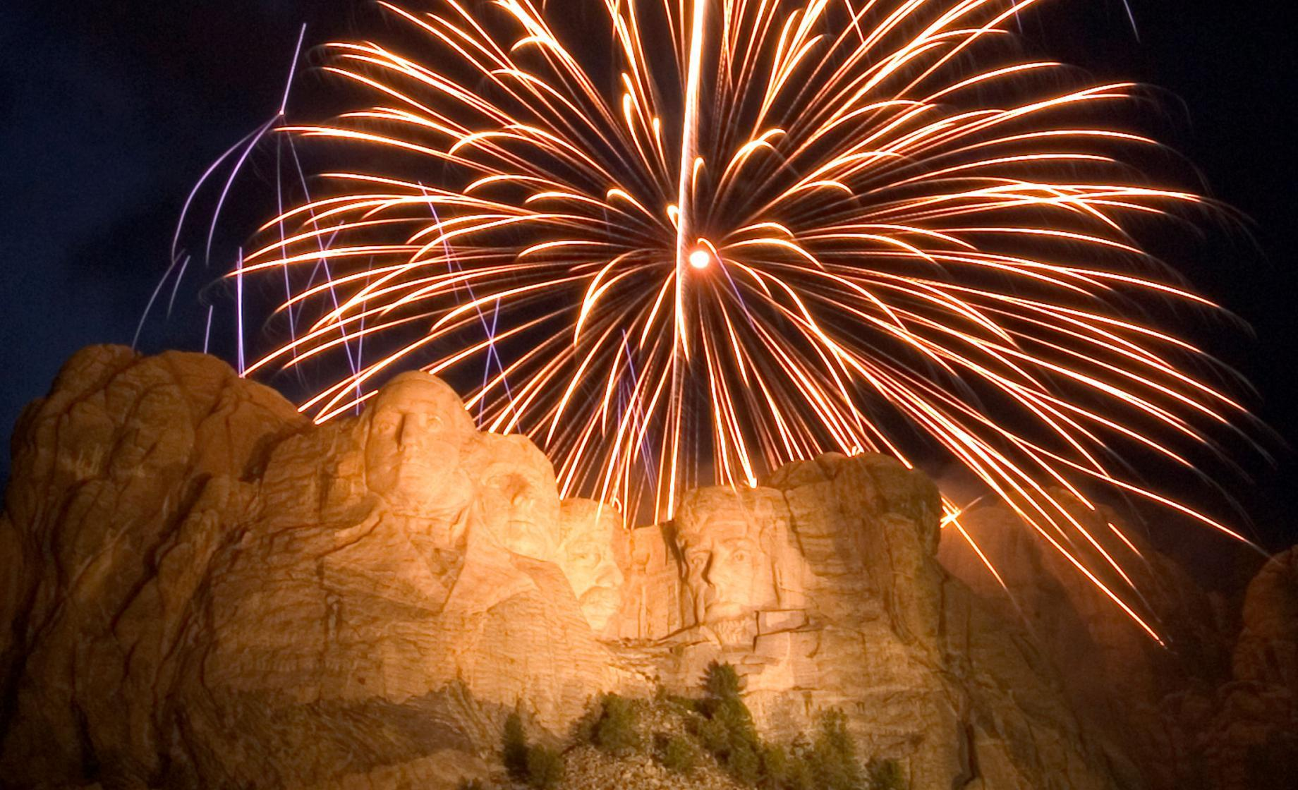 Fireworks at Mount Rushmore National Memorial