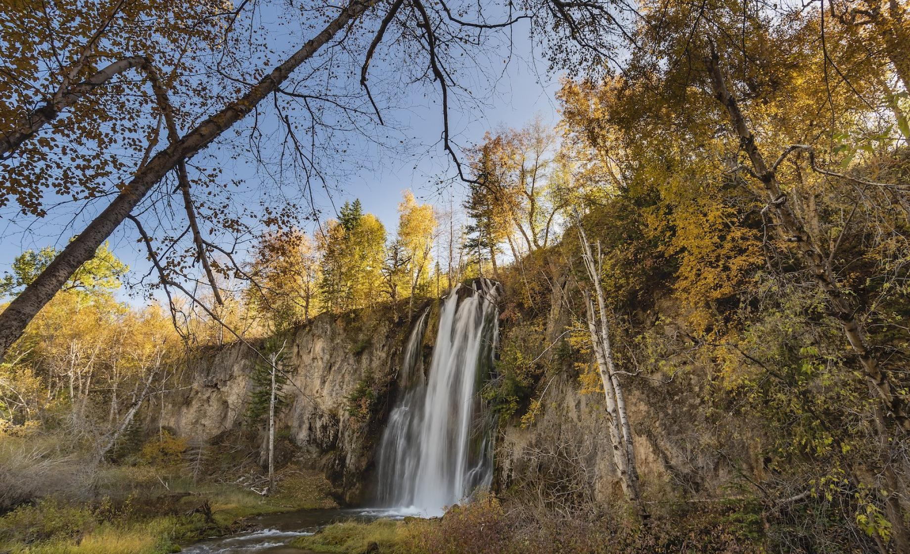 Spearfish Falls in Autumn
