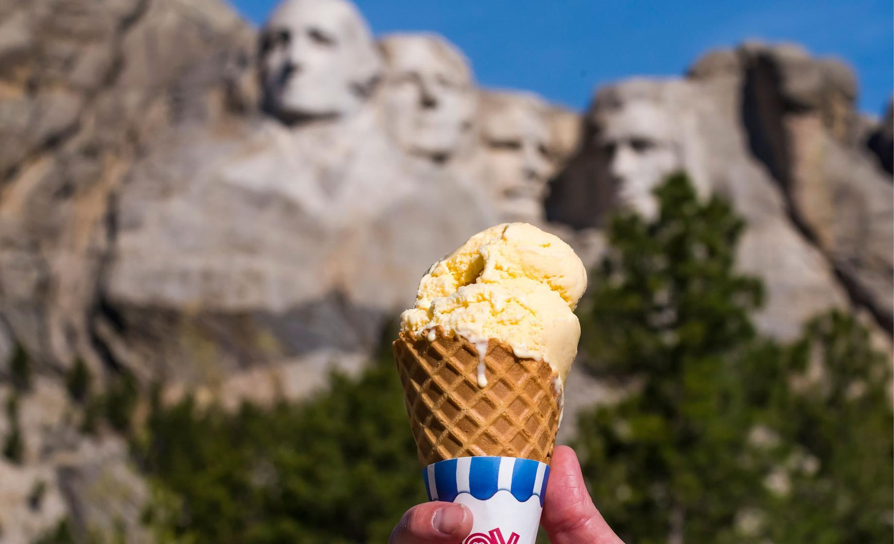 Mount Rushmore Ice Cream