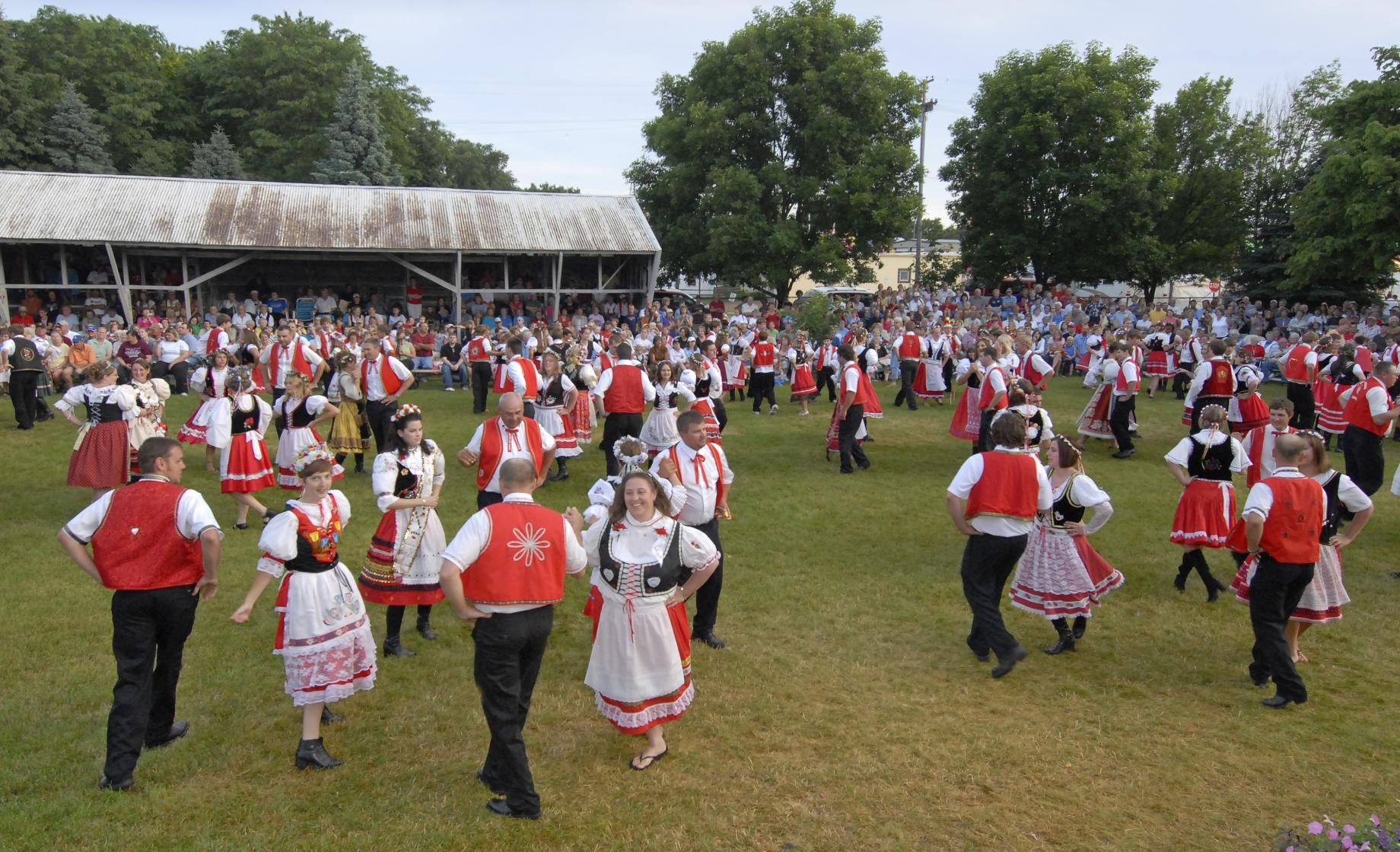 Dancing at Tabor Czech Days