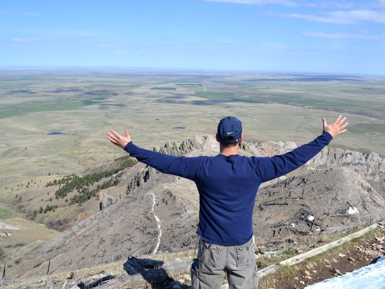 Top of Bear Butte, hiking, black hills