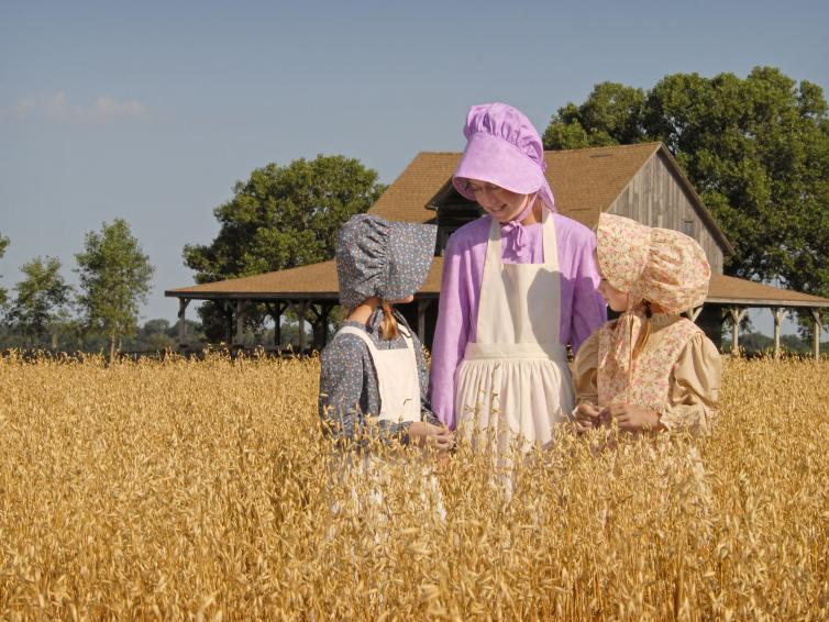 Girls in Prairie Dress