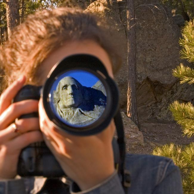 Photographing Mount Rushmore