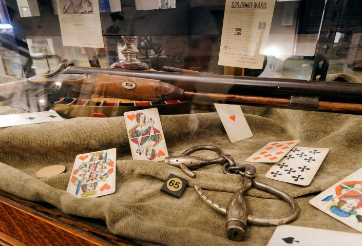 Adams Museum Deadwood Guns and Cards Display