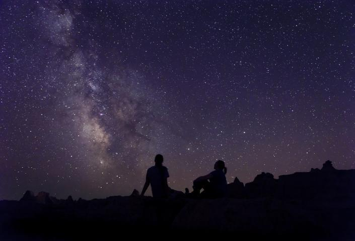 Stargazing in the Badlands