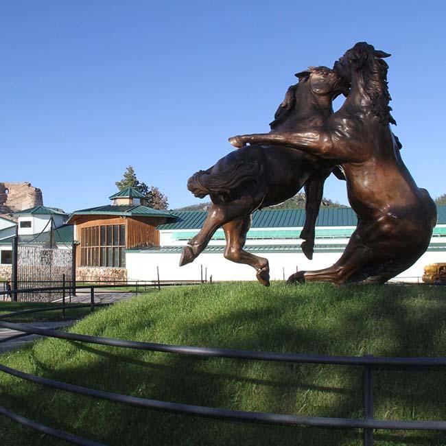 Fighting Stallions at Crazy Horse Memorial