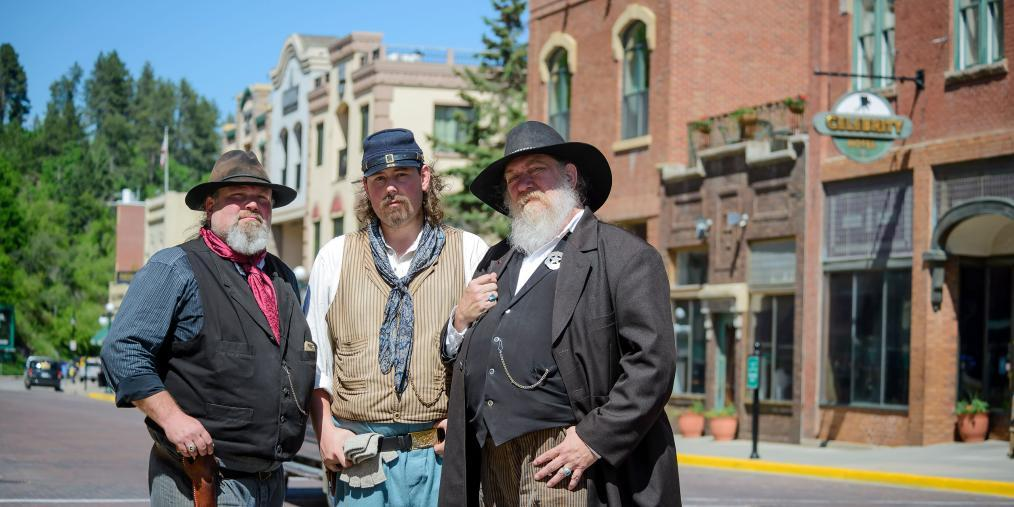Reenactors Main Street Deadwood