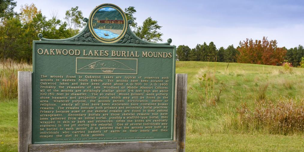 Sign about mounds