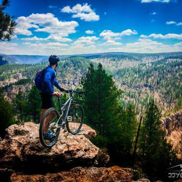 Mountain biking in Spearfish Canyon