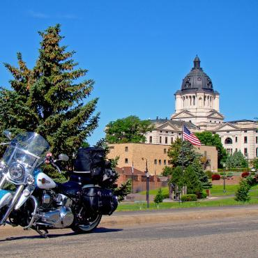 Motorcycle in front of the State Capitol