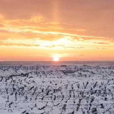 Badlands National Park, Winter