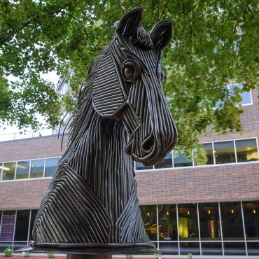 Steel Stallion sculpture by Scott Schlag