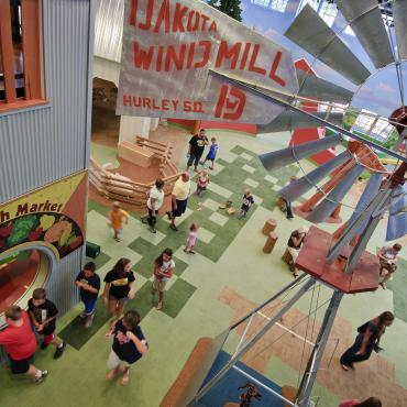 Interactive exhibits at Children's Museum of South Dakota