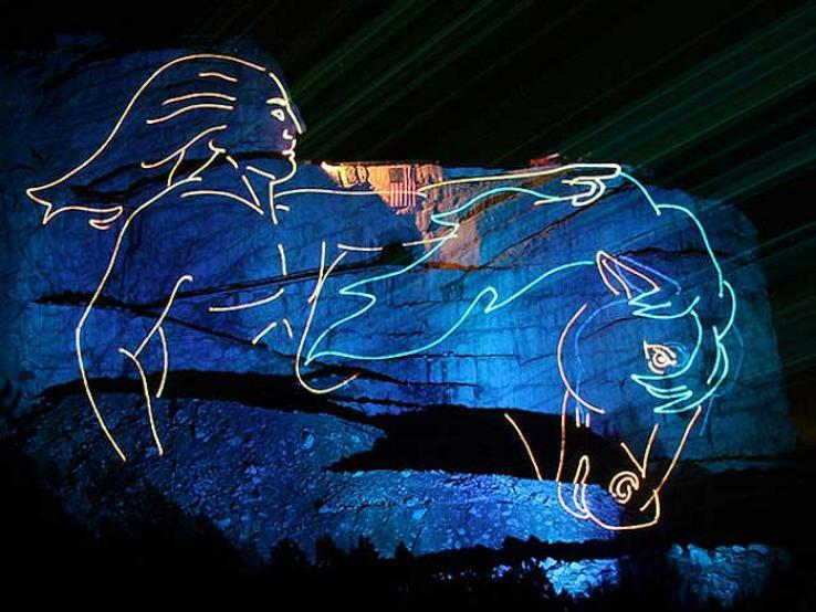 Legends in Light Laser Light Show, Crazy Horse