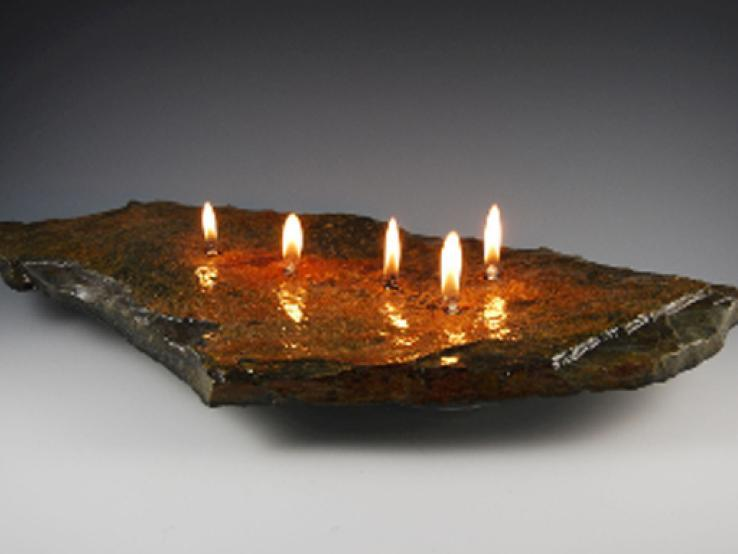 5 wick rock candle