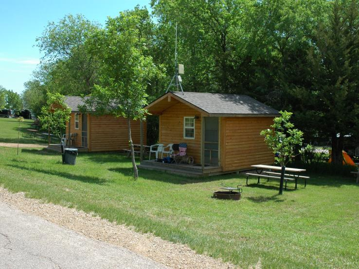 Side by side Camping Cabins