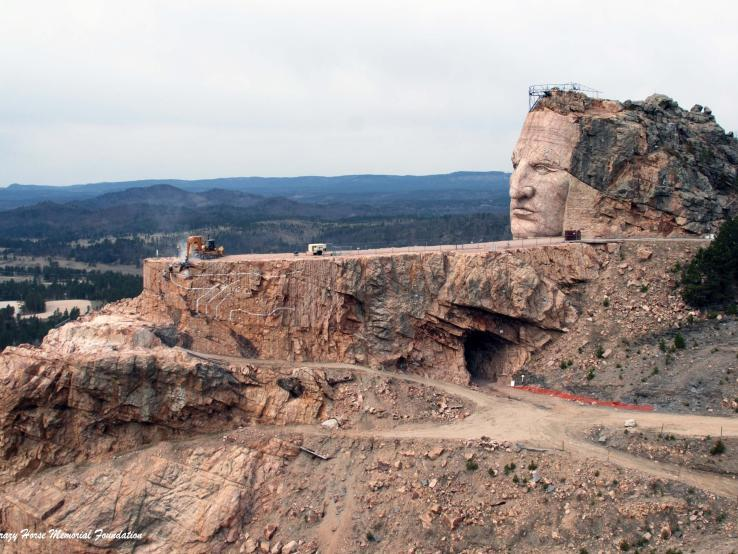 Another view of Crazy Horse