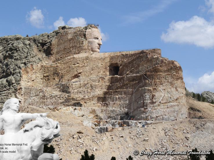 Crazy Horse Memorial Carving