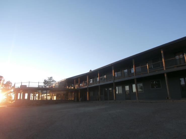 exterior at sunset