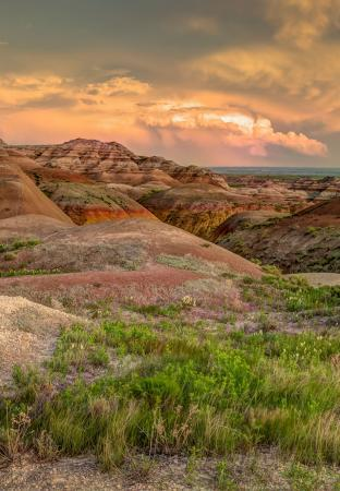 Badlands National Park at Dusk