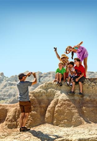 Family Hiking in the Badlands
