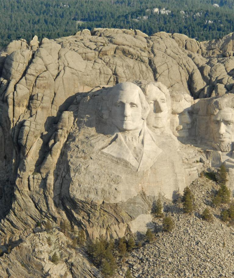 Mount Rushmore aerial view