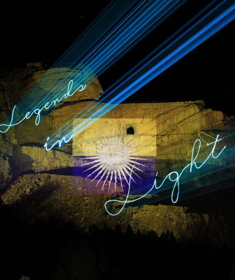 Crazy Horse Legends in Light Laser Light Show