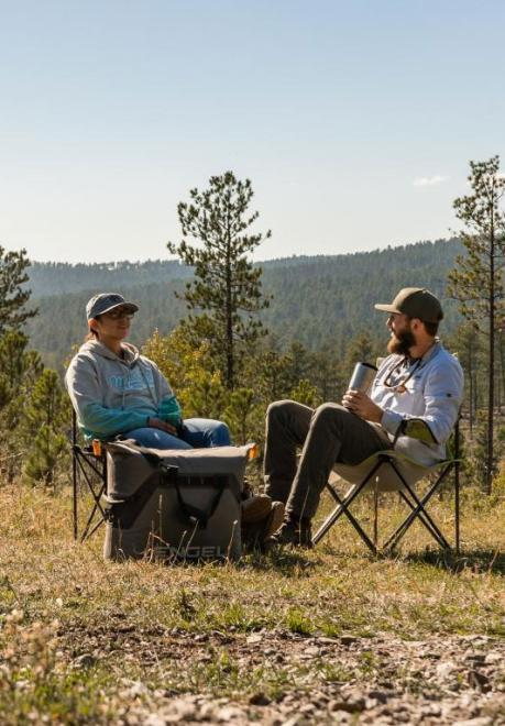 Outdoors Couple Camp Chairs Black Hills