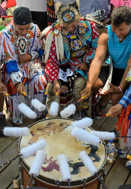 South Dakota Powwow Drum Circle