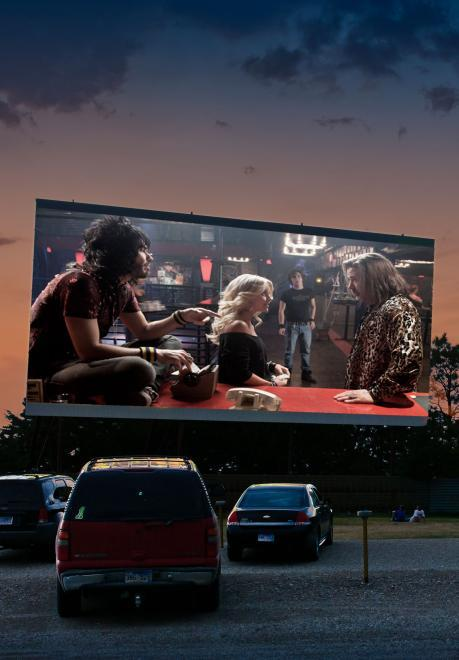 Drive in photo
